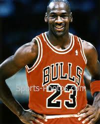 Michael Jordan smiles
