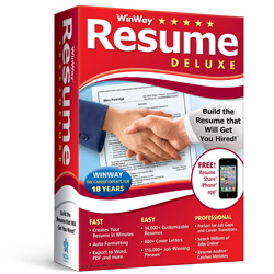 Nova Development Us WinWay Resume Deluxe Resume Builder